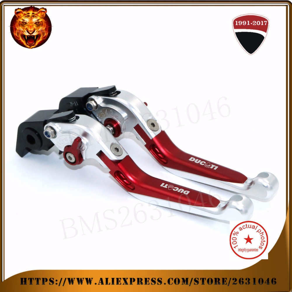 ФОТО  For  DUCATI Diavel/carbon 1199 899 Panigale Streetfighter S 848 Motorcycle New Adjustable Folding Extendable Brake Clutch Leve