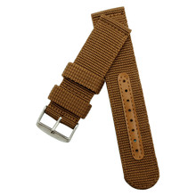 Watch Band Outdoor Sports Nylon Nato Strap 18mm 20mm 22mm 24mm Handmade Canvas Watchband Steel Metal Needle Buckle купить недорого в Москве