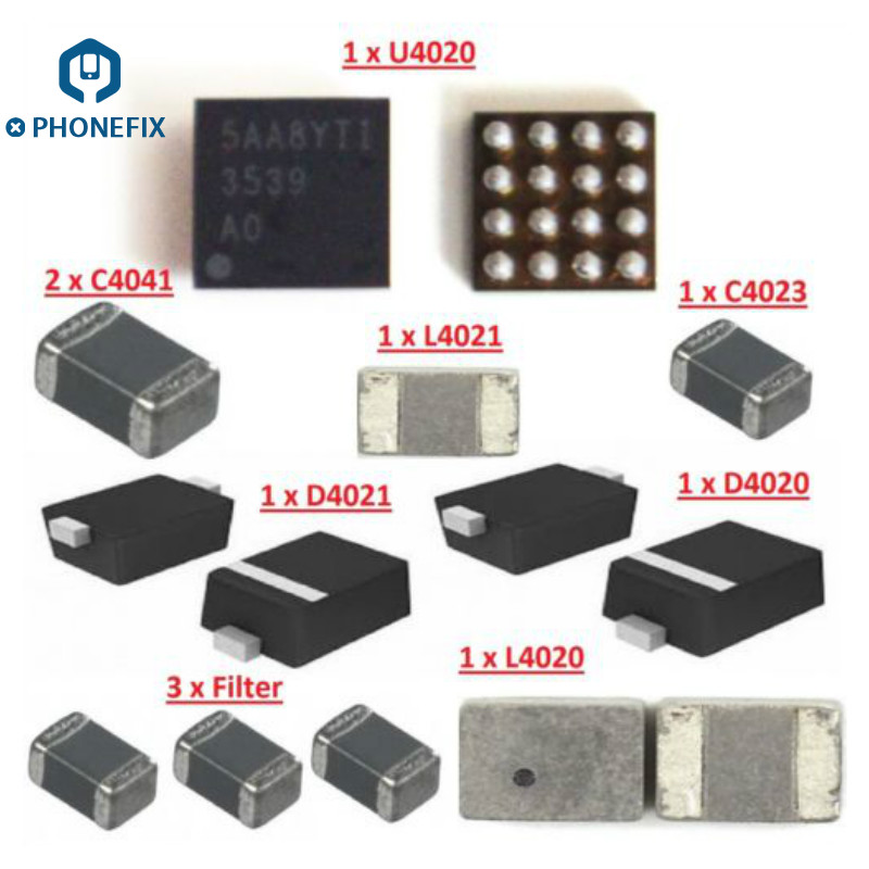 Backlight IC U4020 L4020 L4021 Coil D4021 D4020 Diode C4041 Capacitor Backlight Filter IC FL4211 For Iphone 6S Plus