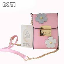 AOYI High Quality PU Handbag Ladies Mini Chain Messenger Bag Small Square Bag Simple Wallet Lady Mobile Phone Bag Sacoche Femme