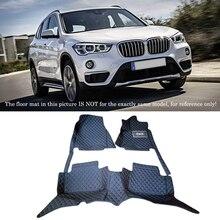 Para BMW X1 F48 2016 2017 Interior de Cuero Alfombras De Piso Estera Del Pie Del Coche Pad 1 Unidades Car Styling accesorios!