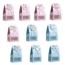 12 шт милый мальчик девочка бумага крещение Baby Shower Украшение коробки для конфет ребенок сувениры Подарочная сумка сладкий день рождения, мероприятие, вечеринка