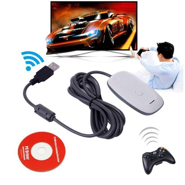Dla konsoli Xbox 360 Gamepad Adapter PC czarny USB odbiornik obsługuje dla Microsoft Wireless Xbox360 kontroler
