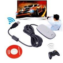 Для Xbox 360 геймпад пк адаптер Черный USB приемник Поддержка для беспроводного контроллера Microsoft Xbox360