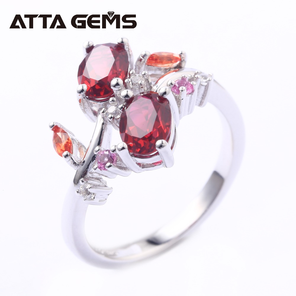 Red Ruby Sterling Silver Rings for Women Wedding Engagement Silver Jewelrys 2 Carats Created Ruby Gemstone Romantic Style red ruby sterling silver women wedding band silver ring 2 1 carats created ruby gemstone engagement romantic style rings