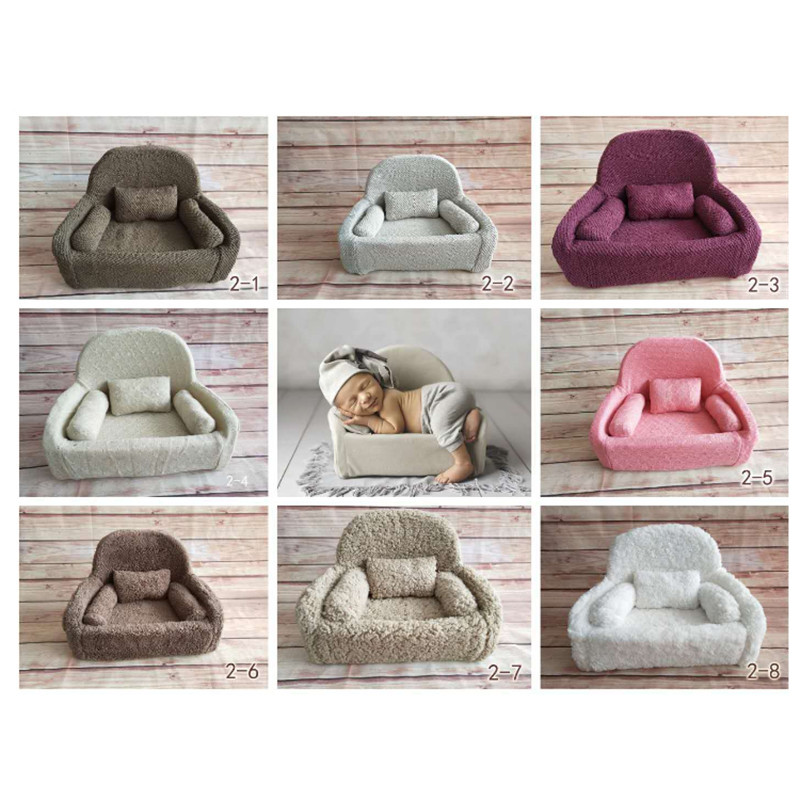 Flokati Newborn Photography Props Mini Posing Sofa For Studio Baby Photography Accessories Baby Photo Props Soft Posing Beans