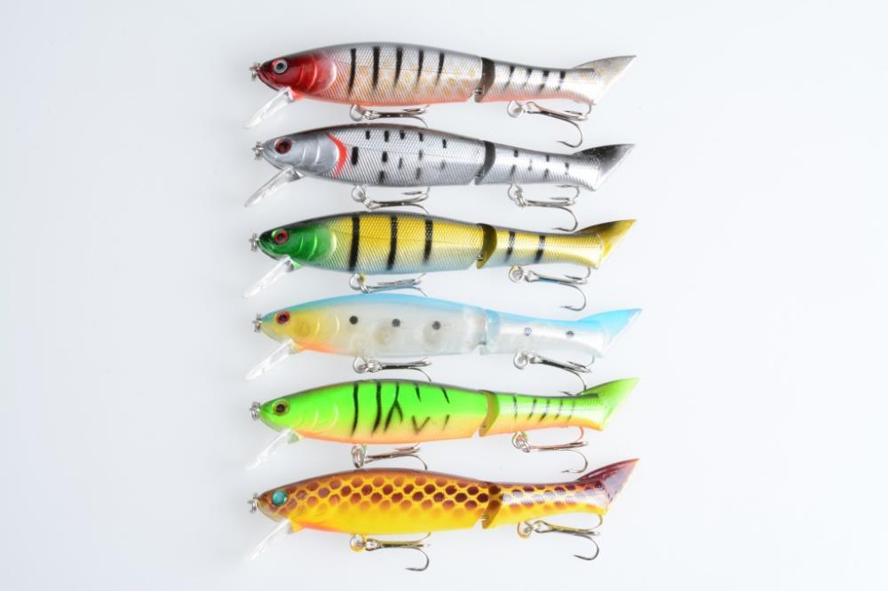 1pcs hengjia bait 120MM 2 Jointed Game vibe Fishing lure 12CM 13.5G 6# vibrator bass fishing tackle HARD VIB Bait pesca
