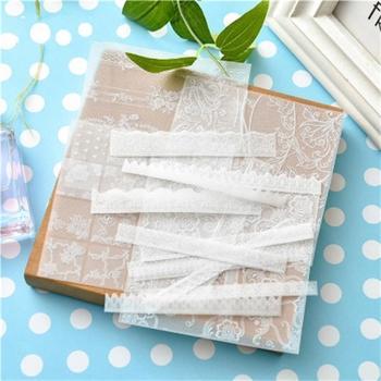 KSCRAFT  6pcs/set Elegant Vellum Paper Stickers for DIY Scapbooking Card Making Planner Craft 1