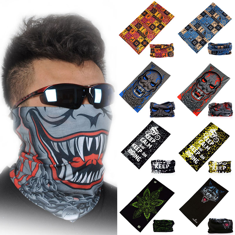 Unisex Women Men Multicolor Magic Fashion Head Face Mask Neck Gaiter Snood Headwear Motorcycle Cycling Tube Scarf Headband