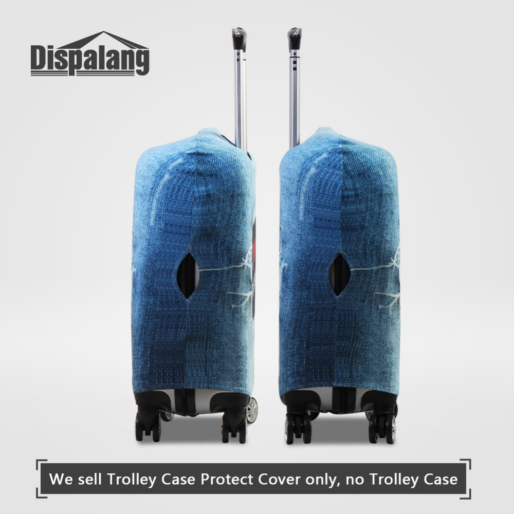 Dispalang Elastic Spandex Luggage Protective Dust Cover Graffiti Printing Suitcase Cover for 18-30 Inch Case Travel Accessories