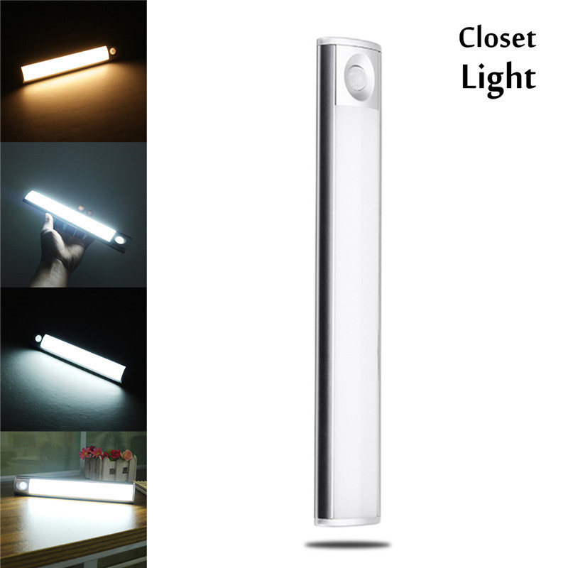 Us 13 36 23 Off Claite Led Cabinet Light 33 Led Smd4014 Usb Rechargeable Motion Sensor Night Light For Kitchen Cabinet Stairs Wardrobe In Led Bar