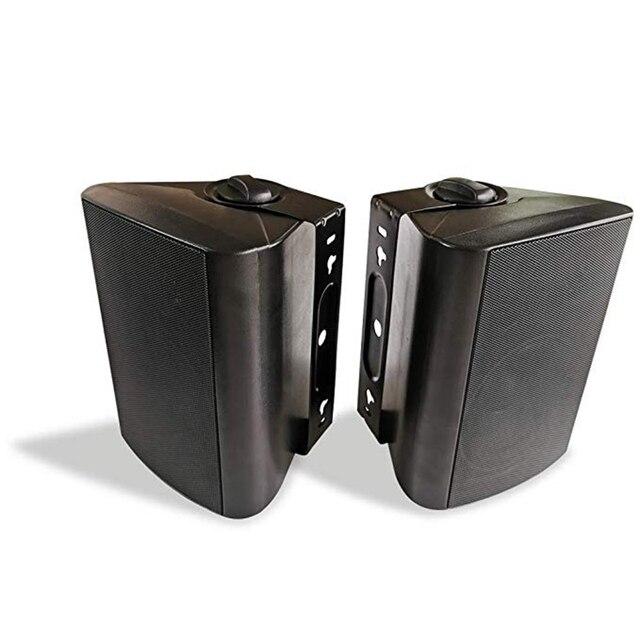 5.25 speakers oradores marinhos exteriores de bluetooth do pátio interno de 200 watts com baixo poderoso todo o sistema da montagem da parede do tempo