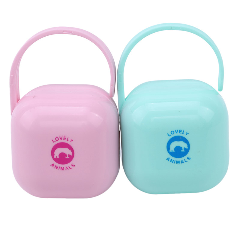 1 Personalized Portable Pacifier Storage Box Nipple Dustproof Soother Container Baby Washable Custom Pacifier Box