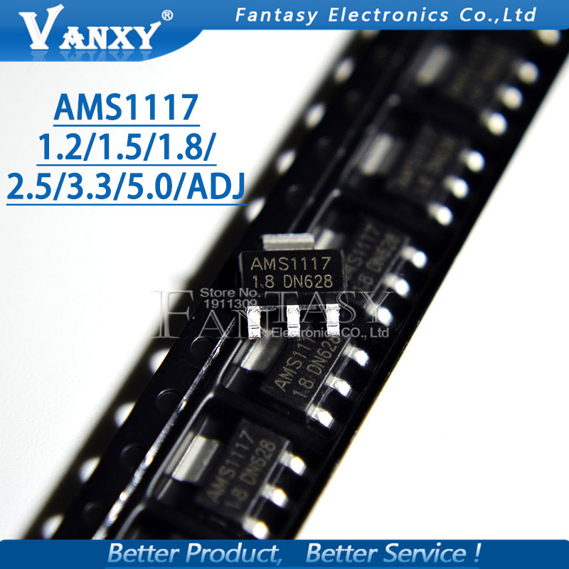 20PCS AMS1117  AMS1117-3.3V AMS1117-ADJ AMS1117-1.8 AMS1117-1.2 AMS1117-5.0 AMS1117-2.5 AMS1117-3.3 AMS1117-5.0 AMS1117-1.5