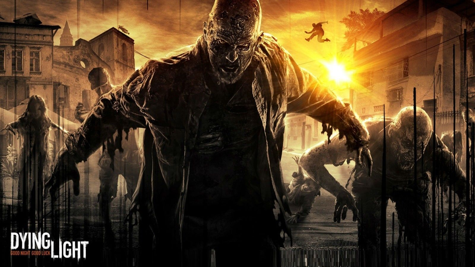 "Dying Light - Open World Survival Horror Game Fabric poster 24"" x 13"" Decor 01"