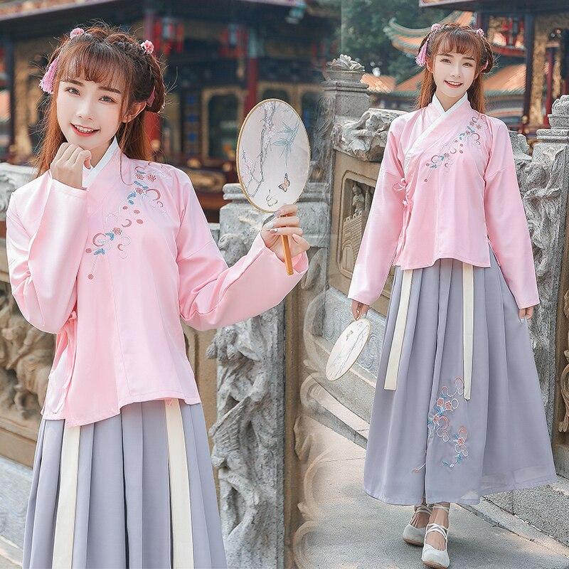 Costume filles chinois Hanfu traditionnel temps anciens adultes chinois vêtements princesse robe scène porter des vêtements de spectacle DNV11429