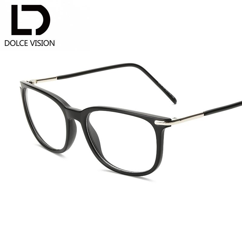 43881e37ad303 DOLCE VISÃO 2018 Novos Óculos de Armação de Moda Feminina Mulheres Óculos  de Lente Clara Óculos Quadrados Anti Homens Óculos de Marca Original