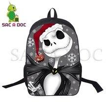 58278538f5 Le Cauchemar Avant Noël Jack Sally Sac À Dos de Dessin Animé Enfants sac à  dos d'école Femmes Hommes décontracté sac à dos de vo.