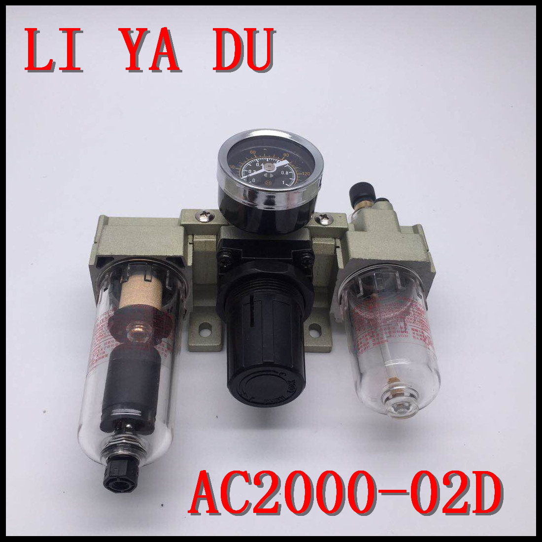 AC2000-02D G1/4 Sanlian pieces Oil and water separator Filter air compressor Reduce pressure regulating valve Automatic drain free shipping 1 pcs air pump air compressor smc auto drain ad402 04 end discharge drain valve oil water separator g1 4