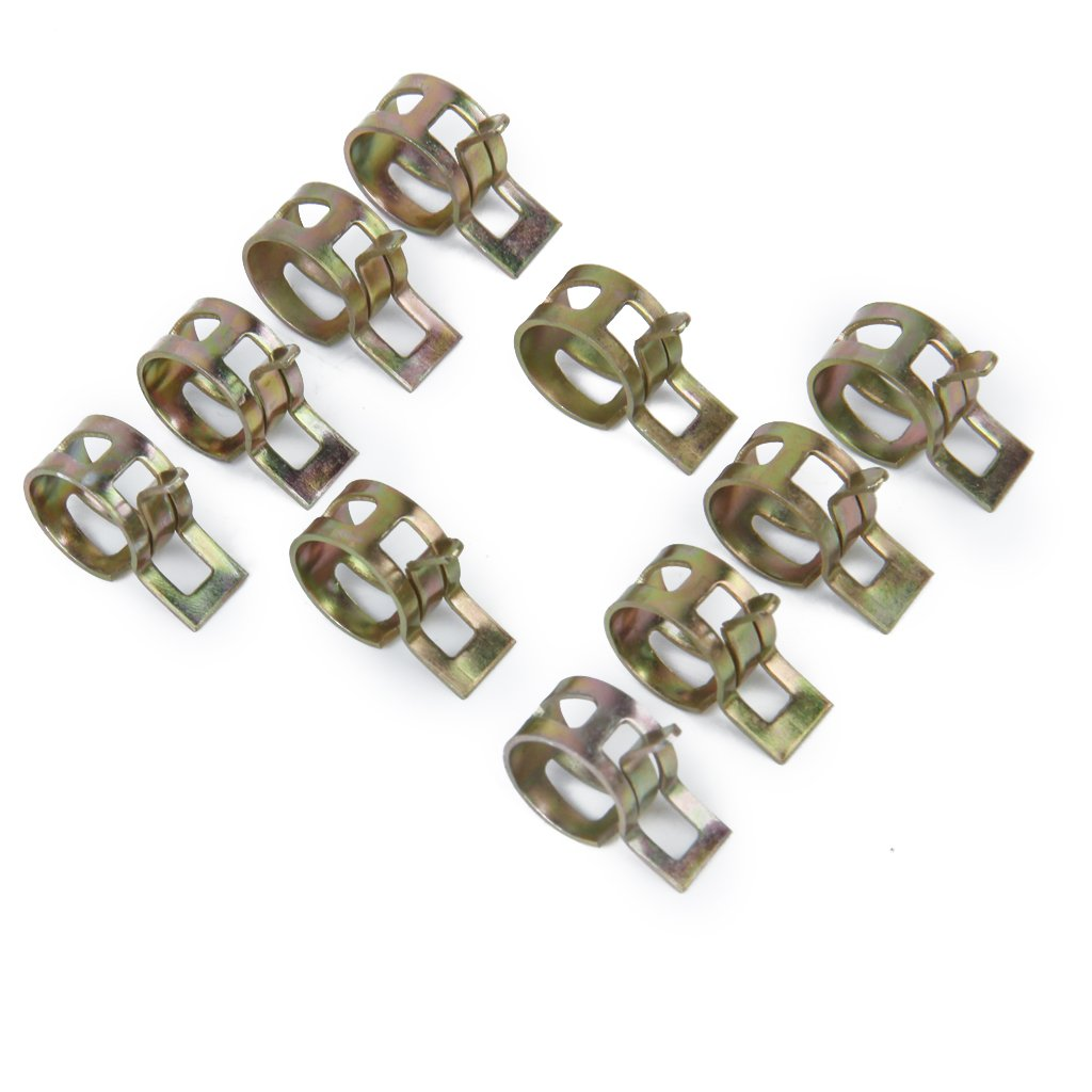 Spring clip fuel hose line water pipe air clamps