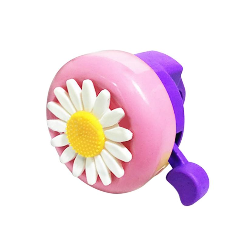 Daisy Flower Pattern Bicycle Bell Safety Loud Clear Bike Cute for Kid Girls