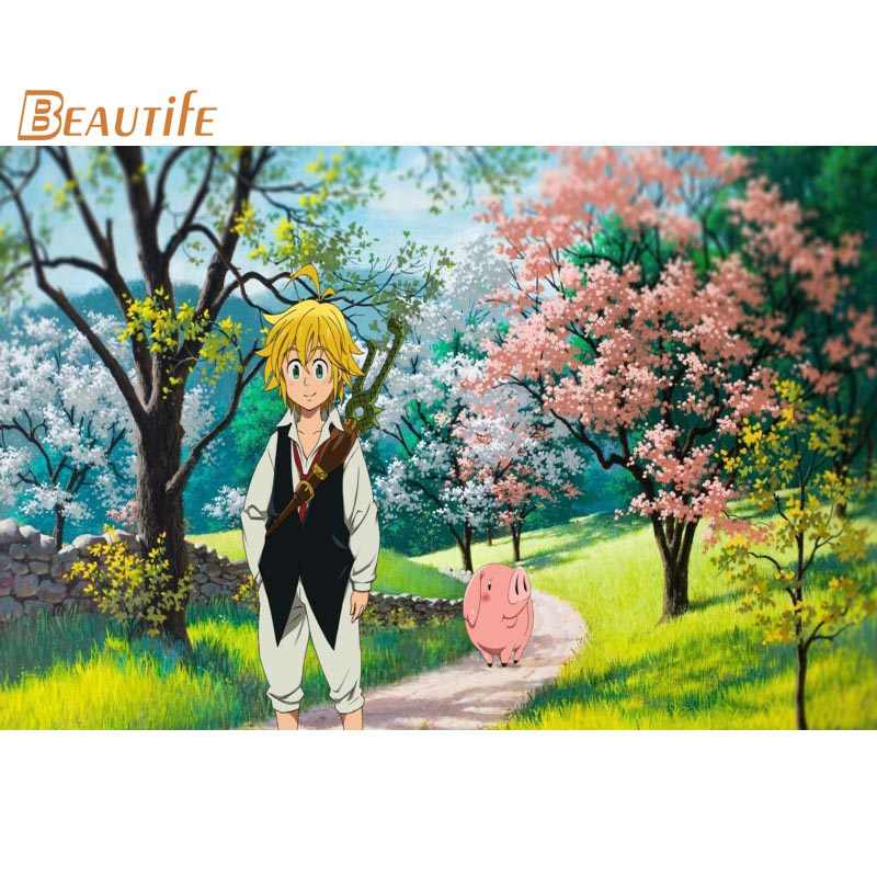 Custom Poster Silk Fabric New Arrive Nanatsu no Taizai Poster Customized Poster for your Room Silk Poster