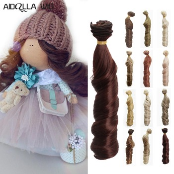 Aidolla 1pcs 15*100cm Doll Accessories Straight Synthetic Fiber Wig Hair For Wigs High-temperature Wire
