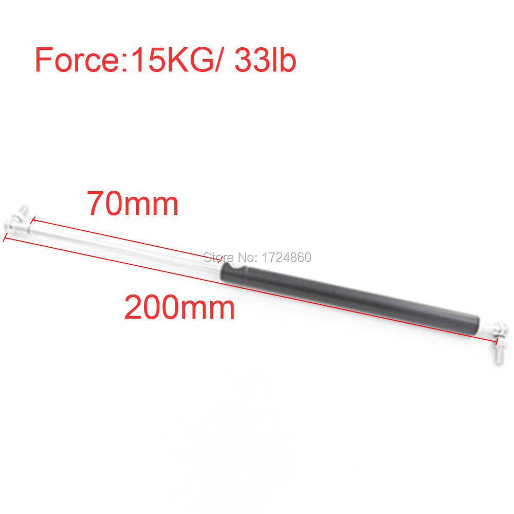 цена Auto Gas Spring 15Kg / 33 lb Force 70mm Long Stroke Hood Lift Support Auto Gas Springs M8 Hole Diameter Sliver Tone