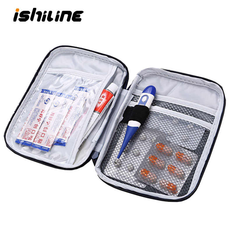 Portable Organizer Mini Travel Bag First Aid Emergency Medical Kit Survival Bag Wrap Gear Hunt Small Medicine Kit Organizer