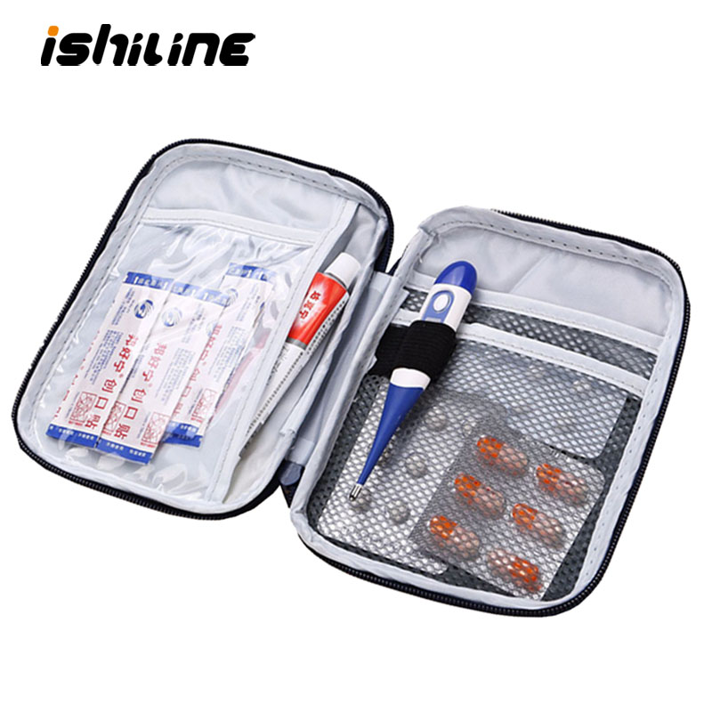 Portable Organizer Mini Travel Bag First Aid Emergency Medical Kit Survival Bag Wrap Gear Hunt Small Medicine Kit Organizer