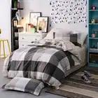 3 pçs tamanho gêmeo de alta qualidade 100% algodão moda simples impresso conjunto cama confortável conjunto capa edredão folha fronha - 1