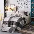 3 stücke Twin Größe Hohe qualität 100% Baumwolle Mode Einfachen Gedruckter bettwäschesatz Komfortable Bettbezug set Bettlaken Kissenbezug