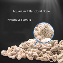 Aquarium Accessories Natural Coral Bone Biological Filter with Free Mesh Bag for Fish Tank 250g Media