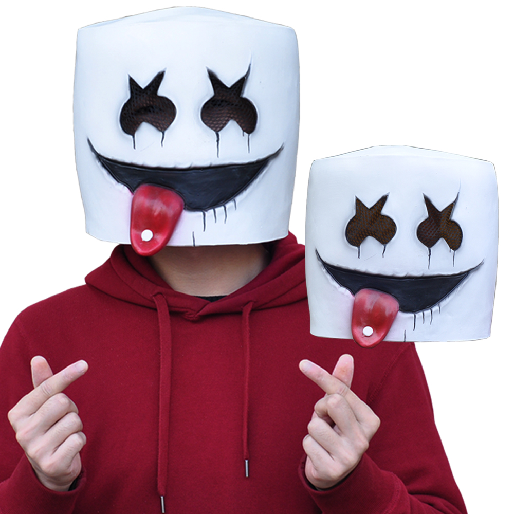 Availble For Kids NEW Marshmello DJ  Mask Cosplay Helmet for Halloween Props