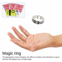 Magic Gimmick Magician Rings Stage illusory Mentalism Toys Floating Ring Tricks Invisible