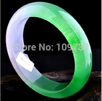 Hot sell Noble 001554 Excellent Ice kinds 100% * green Natural stone lady's (A0427) bracelet dia. 60mm