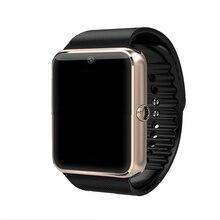 GT08 Conectividade Bluetooth Relógio Inteligente Sincronização do Relógio Pedômetro Empurre Mensagem Notificador Apoio Cartão Sim De Telefone Android SmartWatch