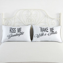 74*48cm Bedding Outlet Queen King Couple Pillowcase Decorative Pillow Case Plain Design Bed Clothes Romantic Bedding Valentine