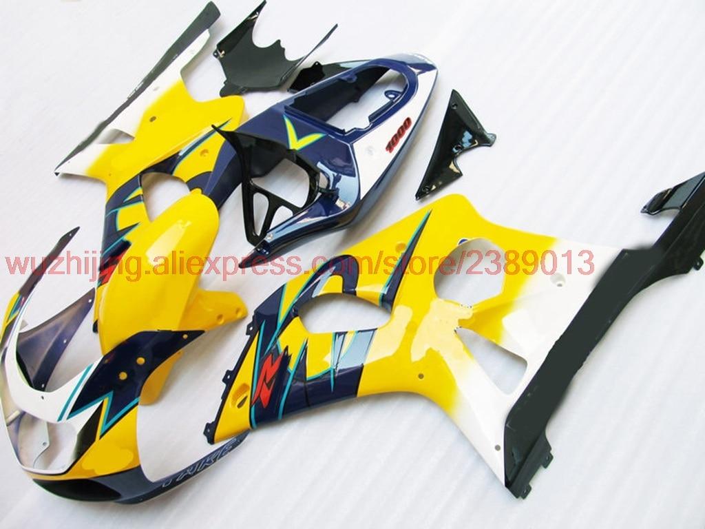 GSXR1000 2000-2003 K1 K2 02 03 зализа ABS GSX R 600 750 1000 2000 желтый для corona ABS обтекатель GSX-R 00 01 обтекатели