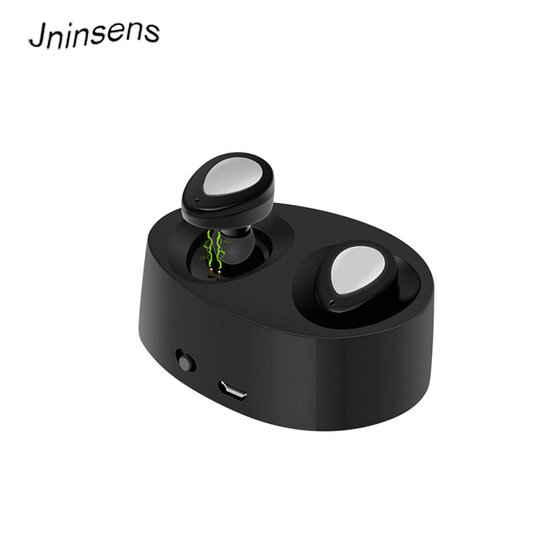 Jninsens TWINS Bluetooth V4.1 Earphone Earbuds Stereo Headset With Charger Case Microphone Mic Wireless Audifonos fone de ouvido dacom k007 mini bluetooth earphone wireless music headset carkit handsfree phone stealth earbuds fone de ouvido with microphone