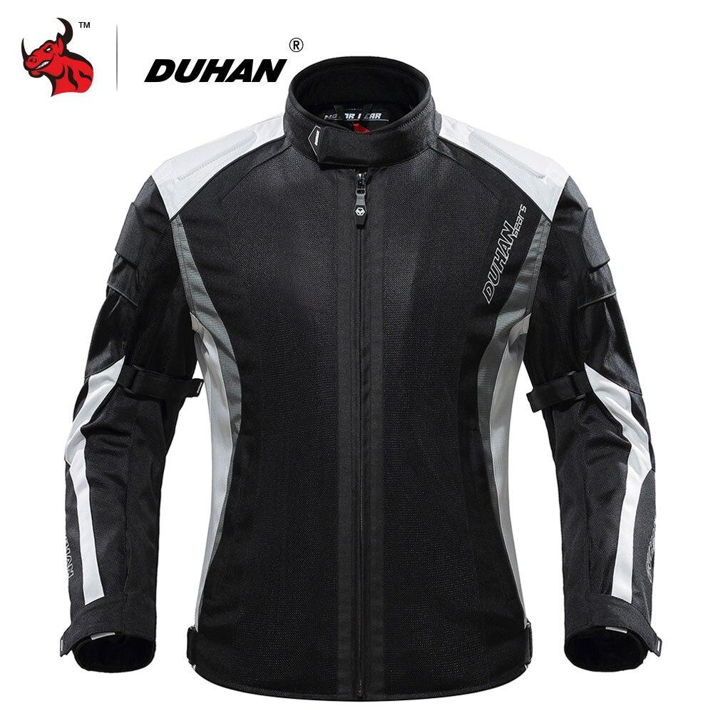 Duhan verão jaqueta da motocicleta engrenagem de proteção malha respirável jaqueta moto dos homens motocicleta equitação roupas jaqueta motoqueiro