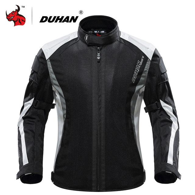 DUHAN Summer Motorcycle Jacket Protective Gear Breathable Mesh Moto Jacket Men Motorcycle Riding Clothing Jaqueta Motoqueiro