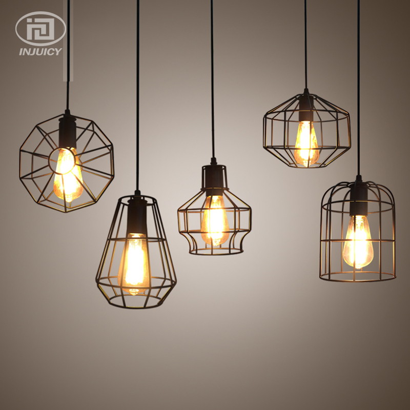 Loft Vintage Art Mini Iron Pendant Lights Retro Industrial Edison Ceiling Lamp Bedroom Restaurant Bar Cafe Decor Hanging Lamps restaurant bar cafe pendant lights retro hone lighting lamp industrial wind black cage loft iron lanterns pendant lamps za10
