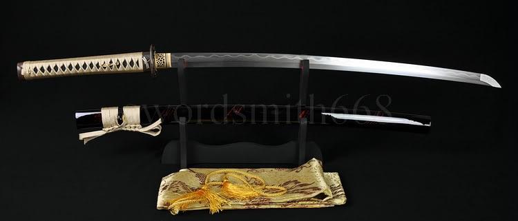 YAPONESE SAMURAI SWORD DRAGONFLY KATANA TAM TANG CLAY TEMPERED - Ev dekoru - Fotoqrafiya 2