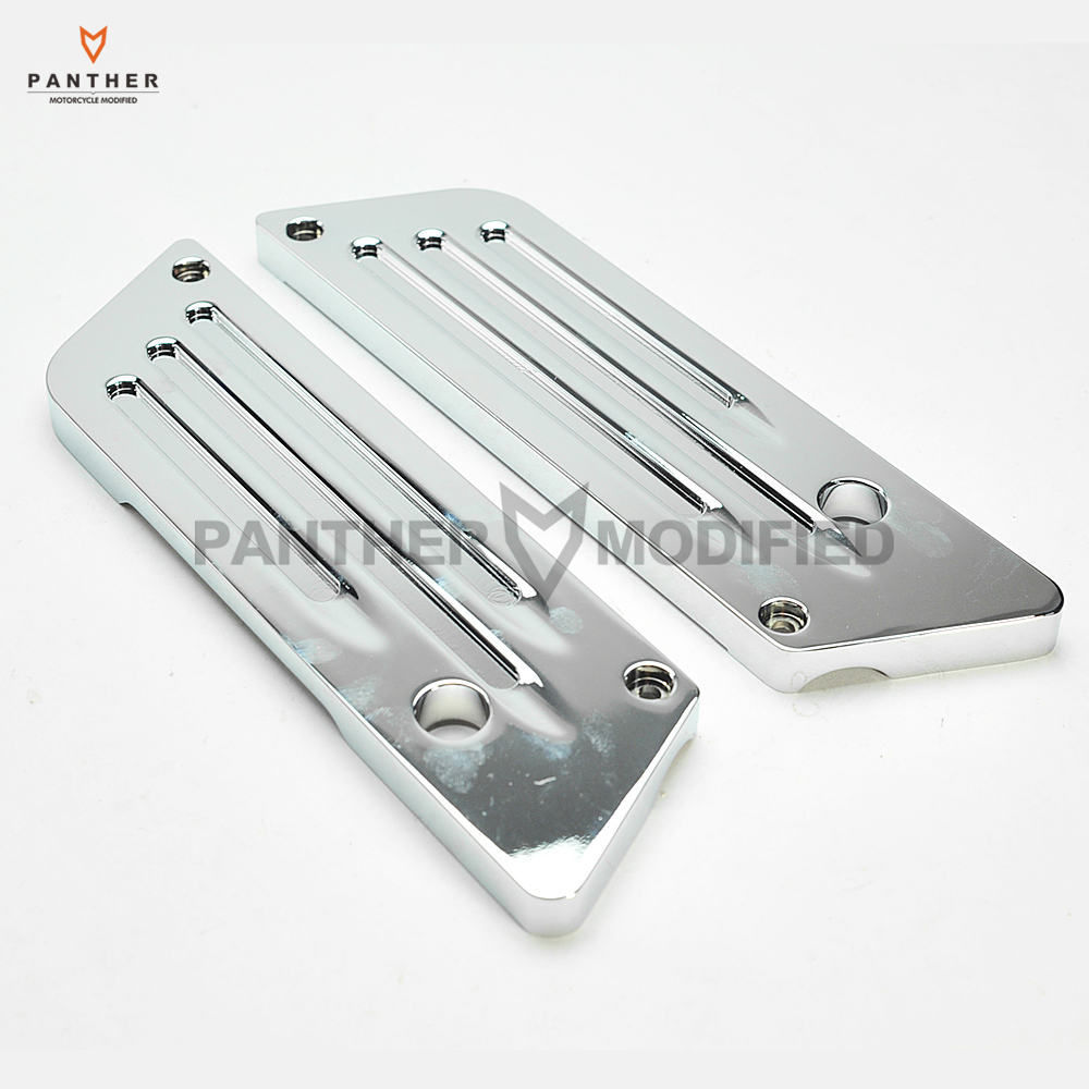 Chrome Deep Cut motorcycle Saddlebag Latch Cover Moto Left Right Ornamental case for Harley FLH/FLT 1993-2011 2012 2013