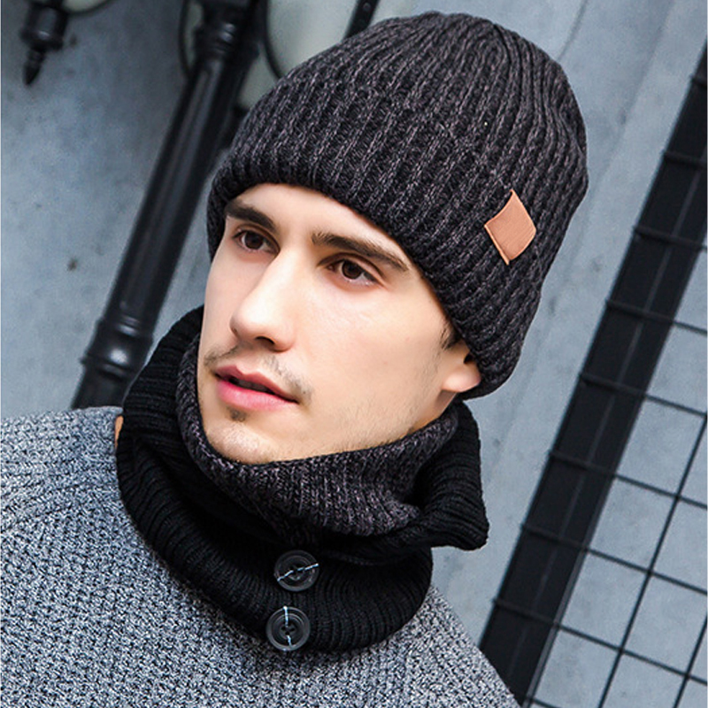 3dcb5faebec Товар 3PCS Winter Knitted Fleece Hats Scarf Glove Set For Women Men ...