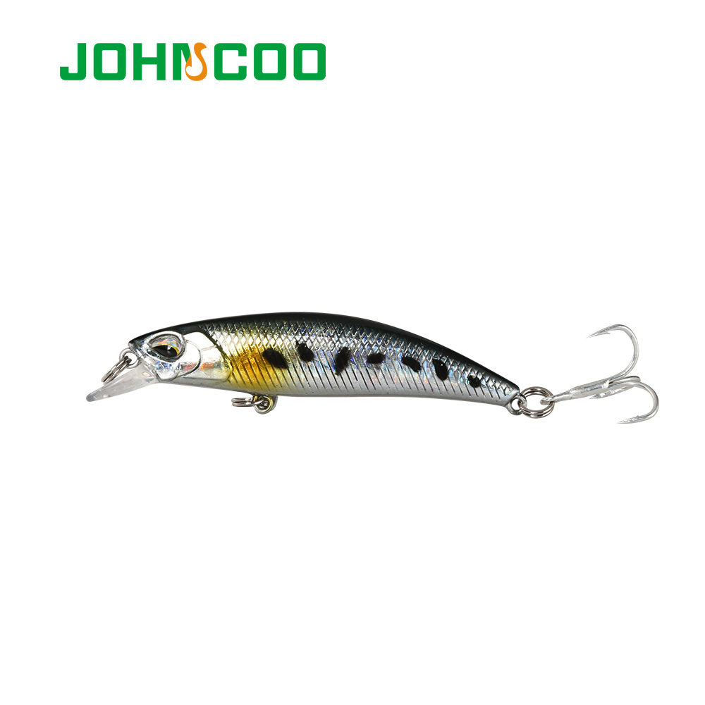 JOHNCOO Fishing Lure Sinking Minnow 60mm 4.5g Hard Artificial Bait 3D Eyes Crankbait Wobblers Crank Bait