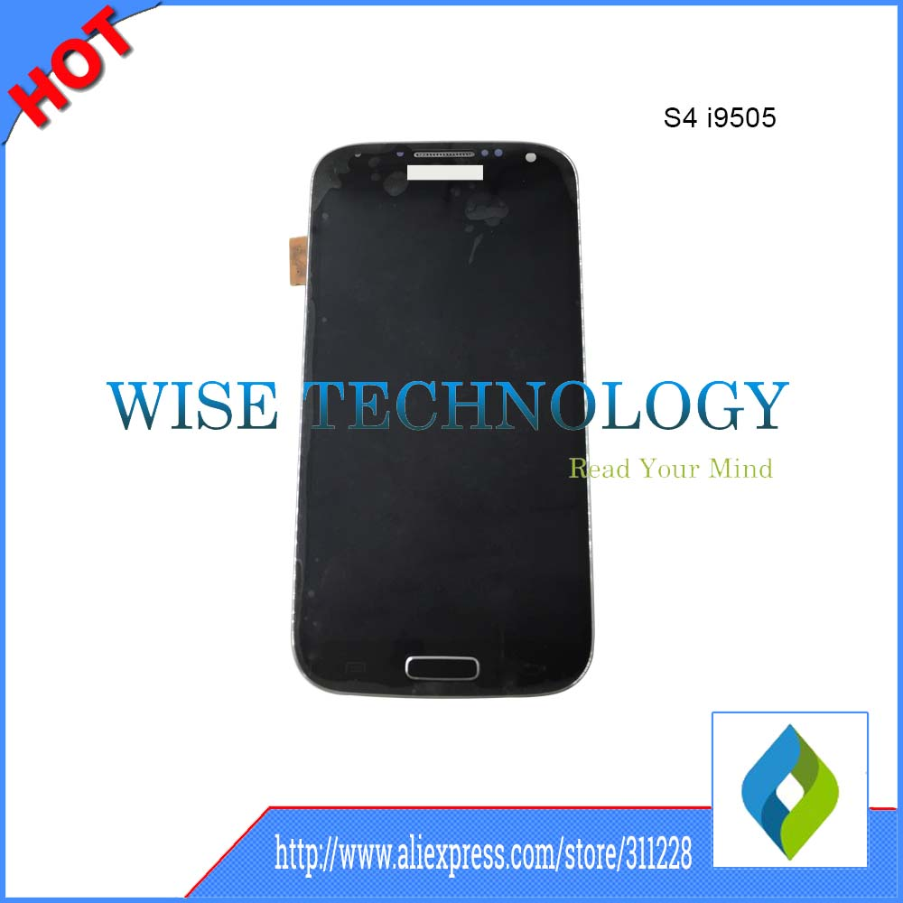 ФОТО High Quality LCD for Samsung Galaxy S4 i9500 gt-i9500 GT-i9505 LCD Display Assembly with middle Frame with touch screen Panel