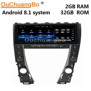 Ouchuangbo 8.8 inch car stereo gps radio for Lexus ES ES240 ES350 2006-2012 support 4 core mirror link 1280*480 android 8.1 OS image