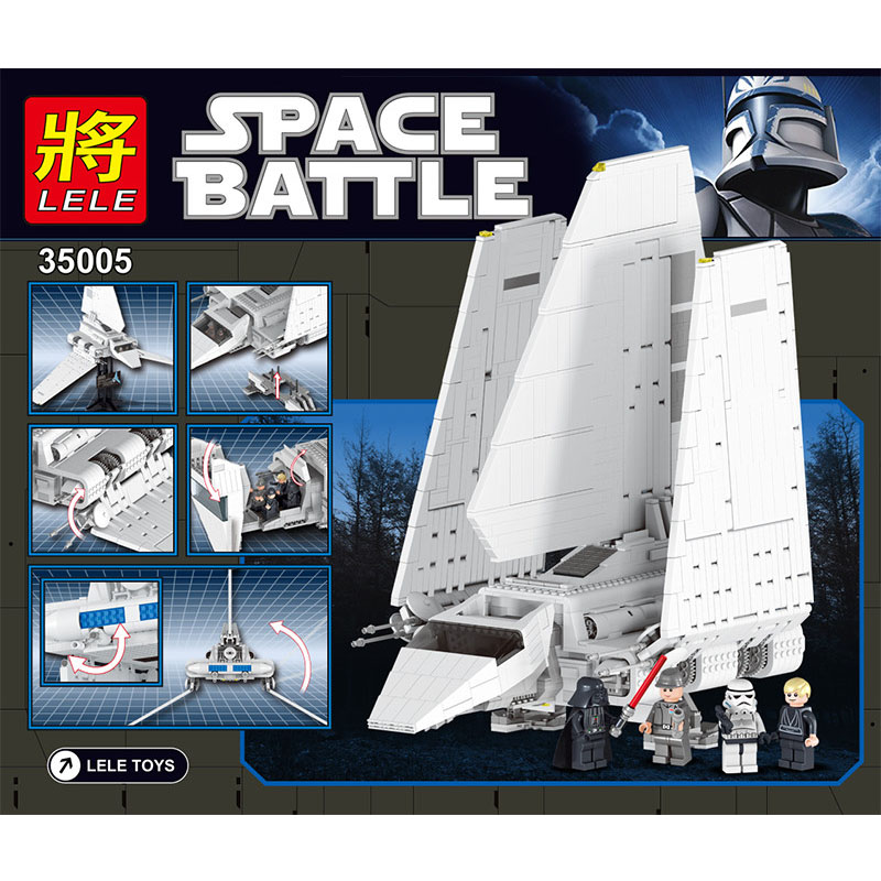 LELE 2503 PCS Marvel Space Fighting Imperial Shuttle Compatible with 10212 Building Blocks Classic Bricks Construction Toys